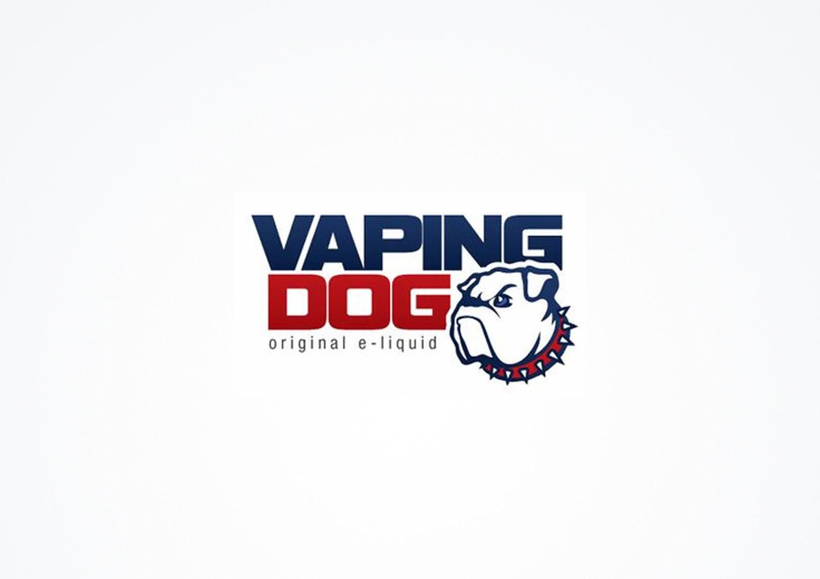 Vaping dog logo